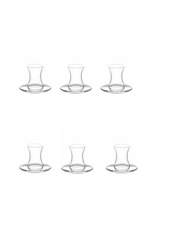 Lav Asena Çay Takımı - 12 Prç. Çay Bardağı Seti Takımı Renkli